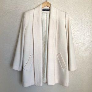 Vintage White Wool Coat